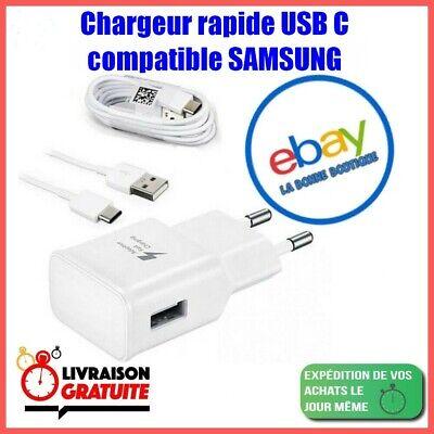 Chargeur Samsung Galaxy S8 / S8 PLUS S9 / S10 Charge Rapide...