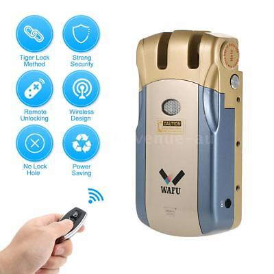 WAFU WF-018 Wireless Remote Control Lock Security Invisible Keyless Door B3V8