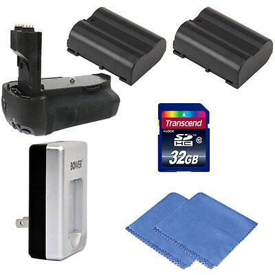 Vivitar Battery Grip For D7000 Slr Camera + Two Enel15 Ba...