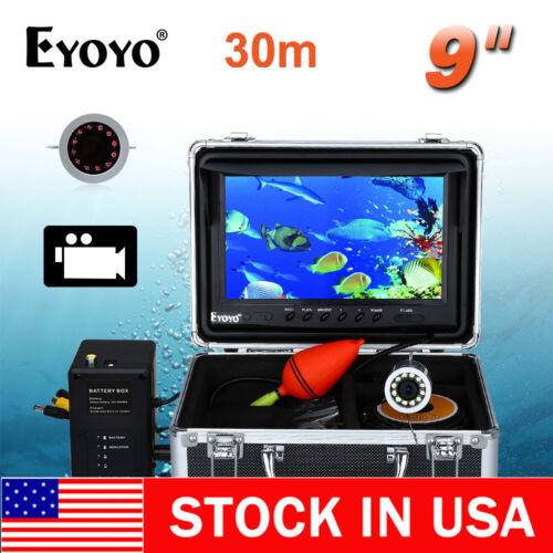 """Eyoyo 9"""" 30M Fish Finder 1000TVL Underwater Fishing Camera 8GB DVR Video Recorde"""