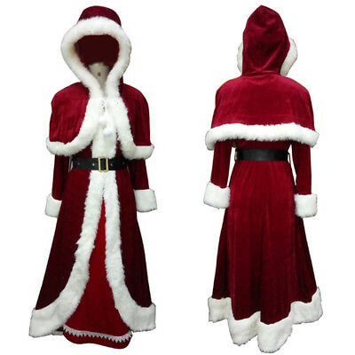 Lady Christmas Xmas Deluxe Classic Mrs. Santa Claus Cosplay Costume Party HC-023 - Mrs Santa Claus Costume