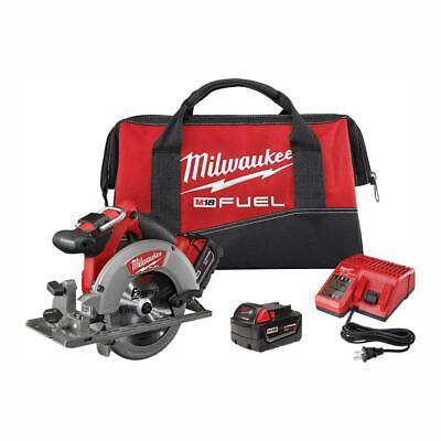 Milwaukee 2730-22 M18 Fuel Cordless Circular Saw W 2 Redlithium Batteries New