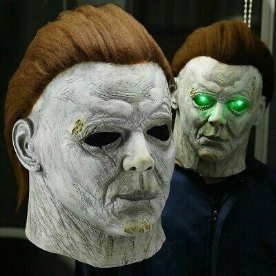 Party Costume Horror Michael Myers LED Halloween Kills Mask Latex Scary Killer