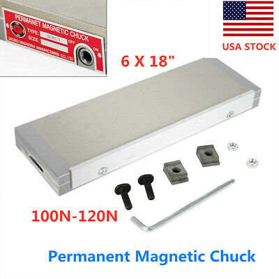 Permanent Magnetic Chuck Fine Pole Workholding For Grinding Machine 6 X 18 Usa