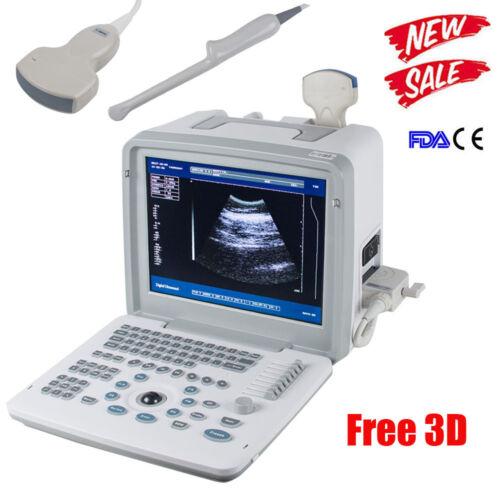 Best NEW HOSPITAL DIGITAL ULTRASOUND SCANNER/MACHINE CONVEX & TRANSVAGINAL 2 PROBE 3D