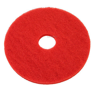 Red Floor Pads - 17 Floor Buffer Polisher - Cleaning Pads - 1 Thick - 5 Pack