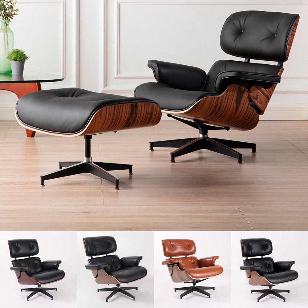 Eames Lounge Stoel Replica.Replica Eames Lounge Chair Ottoman Black For Sale Online Ebay
