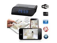 Full HD Home Wireless WiFi IP Camera Alarm Clock Hidden Spy Motion Detection