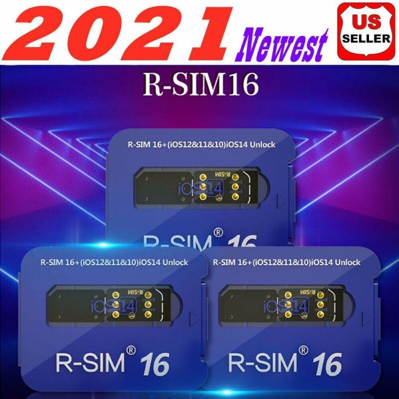 R-SIM16 Sim16 Nano Unlock RSIM Card for iPhone 12 Pro XS MAX XR X 8 7 iOS14 Lot