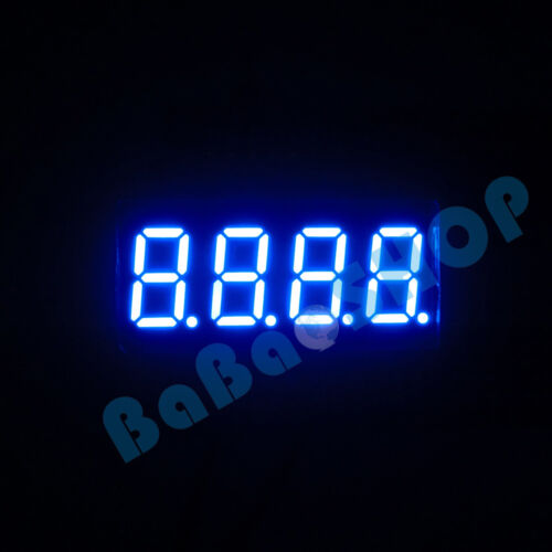 """2pc~100pcs 0.36"""" 0.36 inch 7 Segment Display Red / Blue LED 4 Digit Common Anode"""
