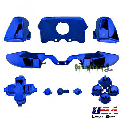 Custom Buttons Triggers for 3.5 mm Jack Elite Xbox One Controller Chrome Blue