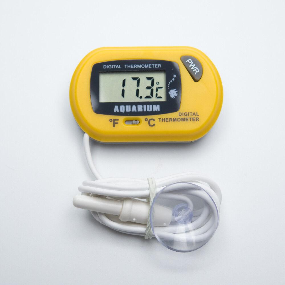 Digital Thermometer Aquarium gelb - Wasser Temperatur Messgerät