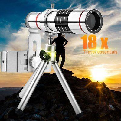 18X Zoom Telephoto Telescope HD Camera Lens Tripod Kit for Andriod Iphone ect US