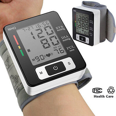 Digital Wrist Bp Blood Pressure Monitor Meter Sphygmomanometer Cuff