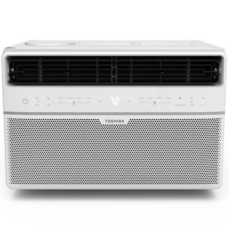 Toshiba Window Air Conditioner 8,000 BTU 115-Volt Smart WiFi Touch in White