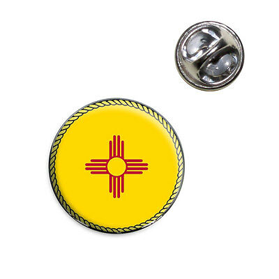 New Mexico State Flag Lapel Hat Tie Pin Tack