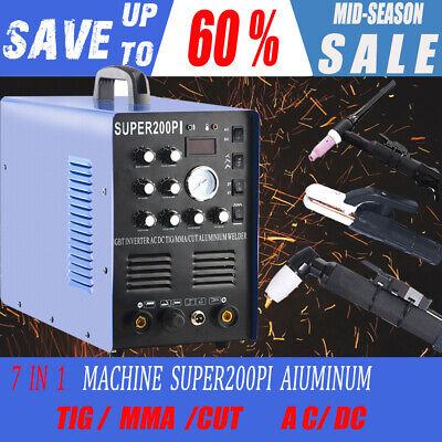 7 In 1 Plasma Cutter Igbt 200a Acdc Pules Tigmma Aluminum Welder