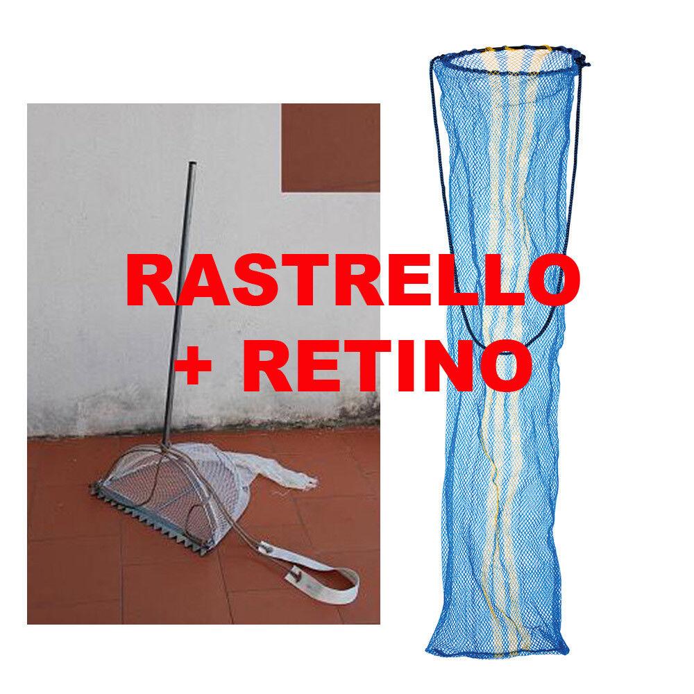 Rastrello per telline vongole + retino - Tellinaro kit grande o medio