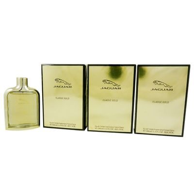 мужские духи Jaguar Classic Gold 3 X 100 Ml Eau De Toilette Edt Set