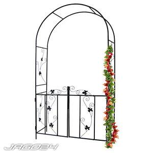 Arco de rosas p rgola metal soportal emparrado elemento for Arco decorativo jardin