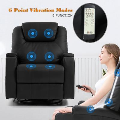 Recliner Chair Reclining Sofa PU Leather Electric Massage Chair Furniture