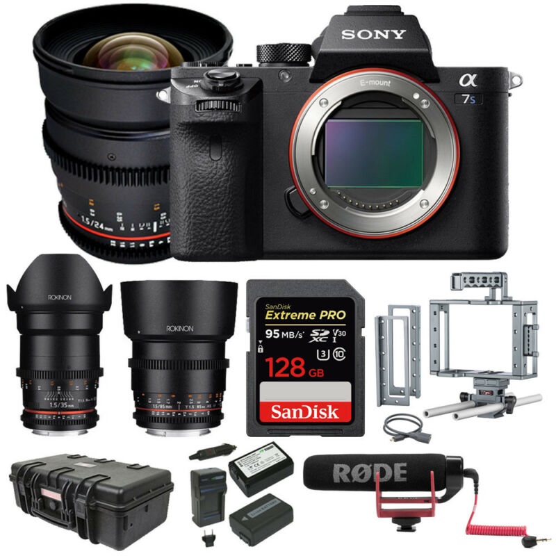 Sony A7s Ii Ilce7sm2/b 12.2 Mp E-mount Camera W/ Full-frame Sensor & Lens Kit