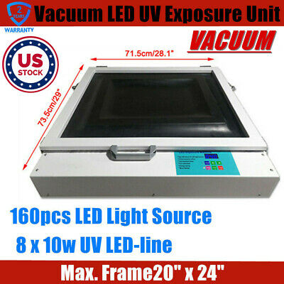 Usa Tabletop Precise 20x24 80w Vacuum Led Uv Exposure Unit For Screen Printing