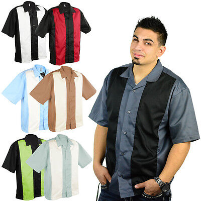 Mato & Hash Mens Short Sleeve Camp Shirt Retro Bowling NWT - Mens Retro Camp Shirt