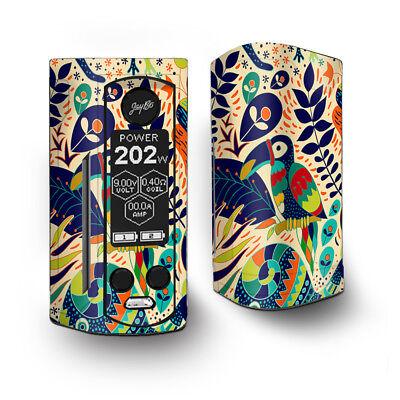 Skin Decal for Wismec Reuleaux RX Gen3 Dual Vape / Pop Art Toucan Color Tropica