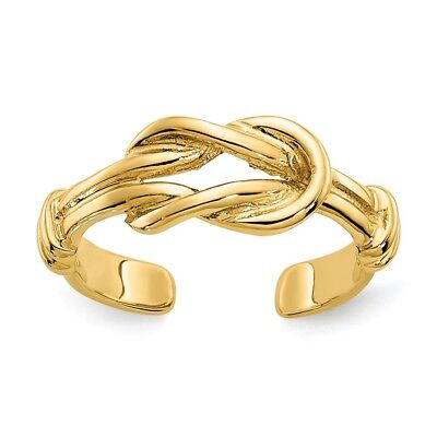14K Yellow Gold Love Knot Polished Toe Ring 1.47 - 1.60 GMS 14k Love Toe Ring