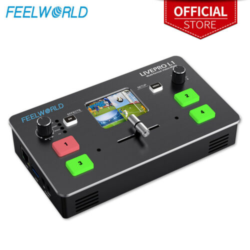 FEELWORLD LIVEPRO L1 Live Stream Switcher 4 HDMI Inputs Video Production Mixer