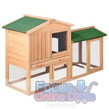 Rabbit Hutch Chicken Coop Cage Guinea Pig Ferret House w/2 Storey West Melbourne Melbourne City Preview