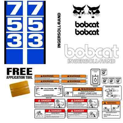 Bobcat 753 V1 Skid Steer Set Vinyl Decal Sticker Bob Cat Made In Usa Free Tool