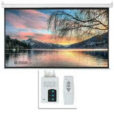 Leadzm 92 16:9 HD Foldable Electric Motorized Projector Screen + Remote White