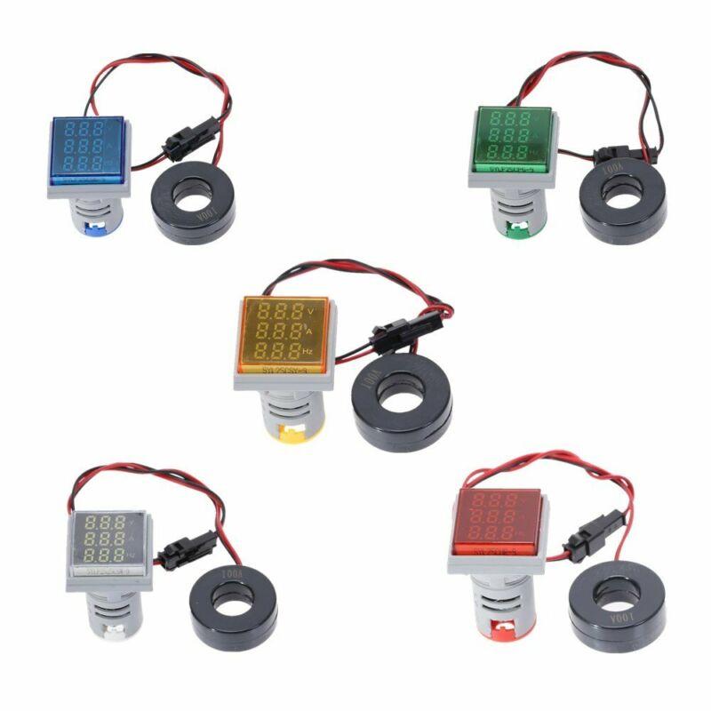 Digital LED AC Ammeter Voltmeter Hertz Signal light  Indicator Meter Testr