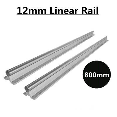 2x 12mm Sbr12-800mm Fully Supported Slide Guide Shaft Rod Linear Rail Us Stock