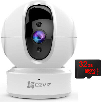 EZVIZ C6CN 1080p Pan Tilt Security Camera + 32GB MicroSD Memory Card