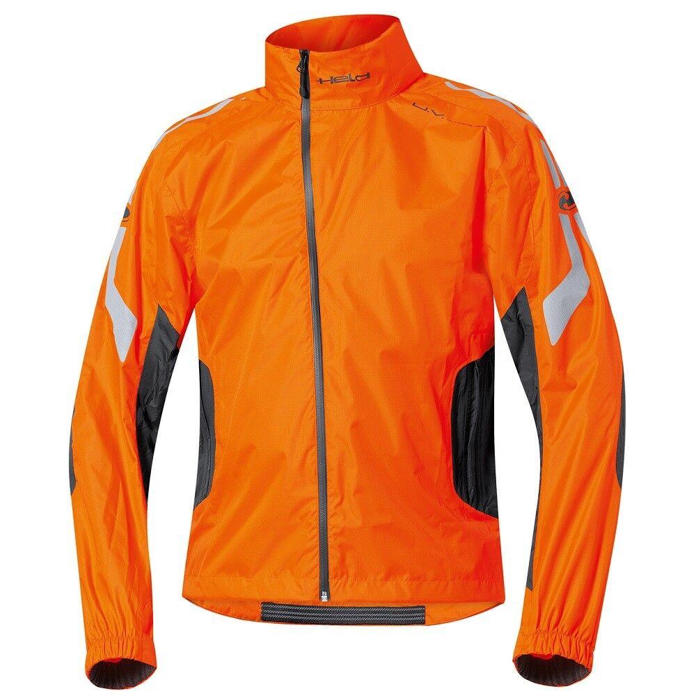Held Wet Tour Regenjacke Orange - für Motorrad, Outdoor und Wandern