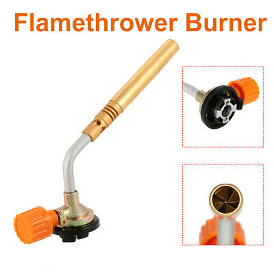 Blow Torch Butane Gas Flamethrower Burner Welding Manual Ignition Soldering BBQ