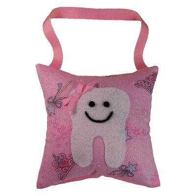 Tooth Fairy Pillow Girls Pink Princess Make Believe Glitter USA Hand Crafted NEW