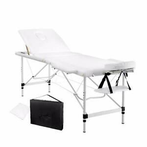 Portable Aluminium 3 Fold Massage Table Height Adjustable 60cm Kings Beach Caloundra Area Preview