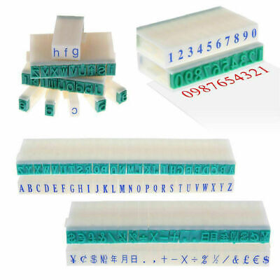 1 Set English Alphabet Letters Numbers Rubber Stamp Free Combination Diy Craft