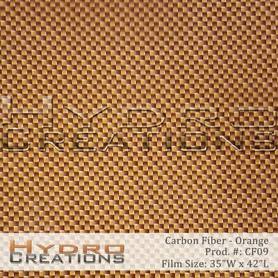 Hydrographic Film Hydro Dipping Water Transfer Orange Carbon Fiber 35 X 42