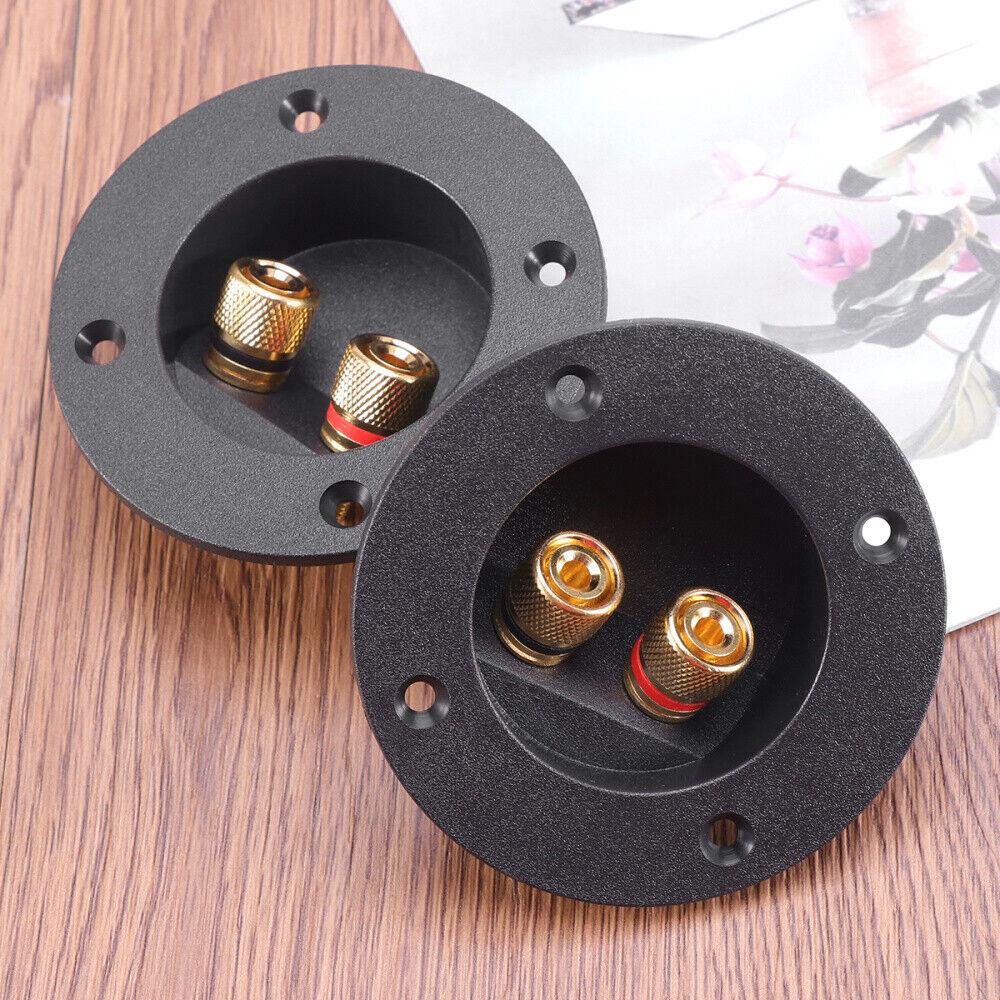 2Pcs Speaker Box Terminal Round Screw Cup Connector
