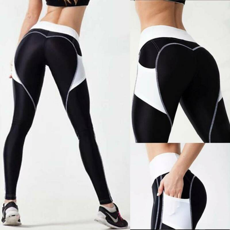 Women Butt Lift Yoga Pants High Waist Leggings Fitness Exercise Sports Trousers 8