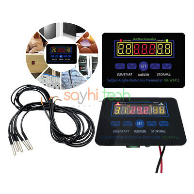 Digital Led Temperature Controller 12v 110-220v Thermostat Controller Xh-1411
