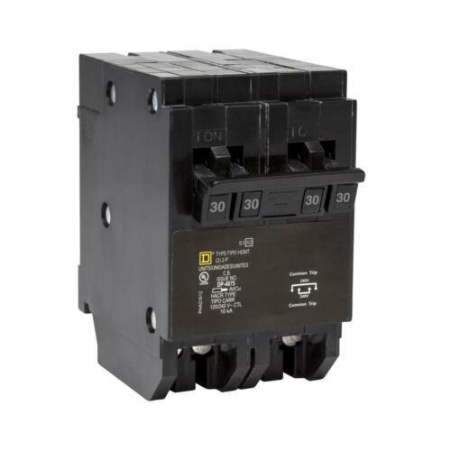 New Square D Homeline Quad Circuit Breaker 30 amp 2 pole HOMT230230