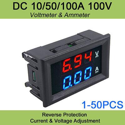 Dc 100v 10a Voltmeter Ammeter Bluered Led Dual Digital Volt Amp Meter Gauge Us