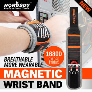 Magnetic Wristband w/ Strong Magnets Holds Screws, Nails, Bits Gift for Him