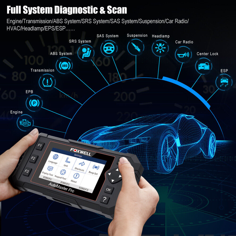 Owner Foxwell OBD2 Scanner Full System Auto Diagnostic Tool Oil EPB Reset Code Reader